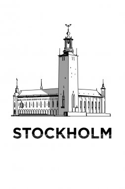 The sketch of Stockholm city hall