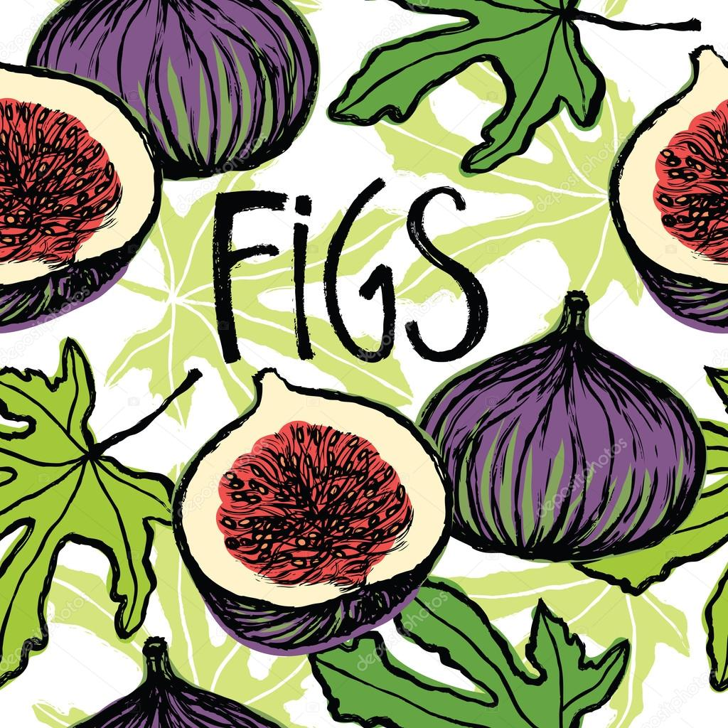Figs seamless pattern