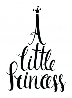 A little princess lettering