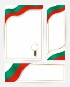 Fotografie Bulgaria flag banners set.