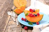 melon and berries fruits