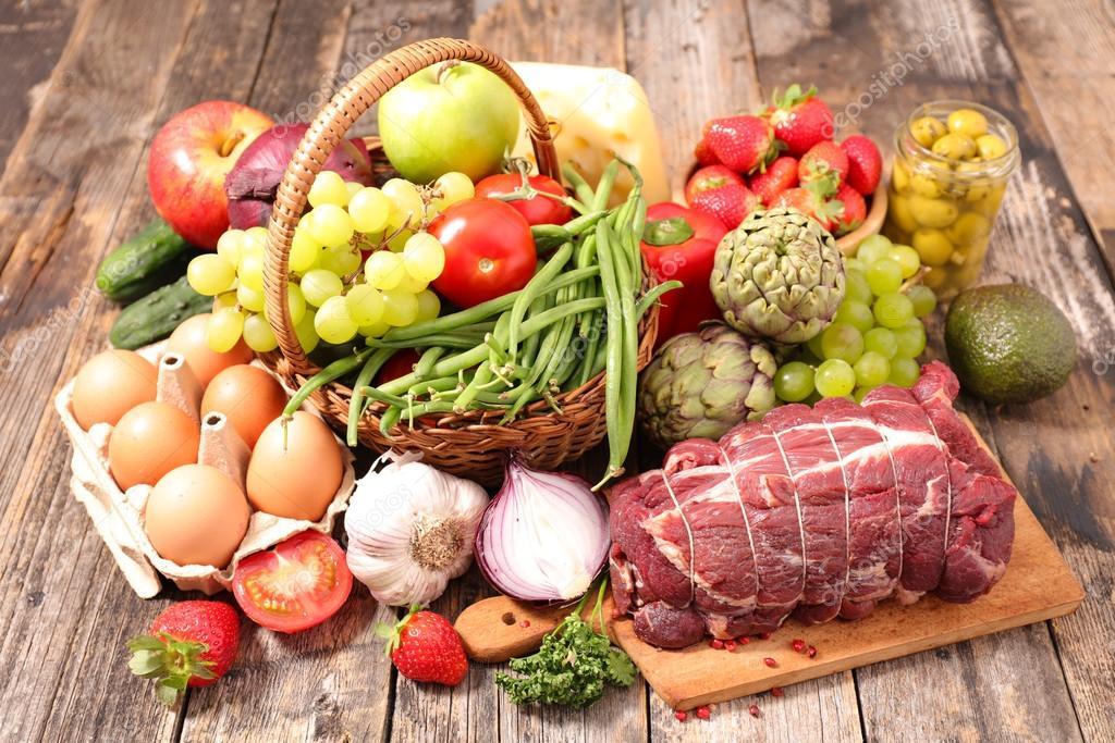 depositphotos 111467374 stock photo assorted healthy organic food
