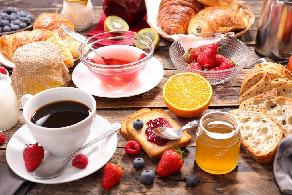 Composition of continental breakfast stock photo - Menu semanal sano ...