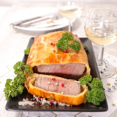 Christmas baked roast beef