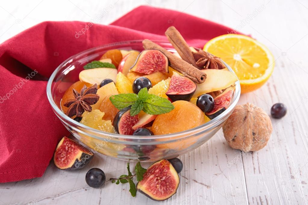 fruit salad with spices