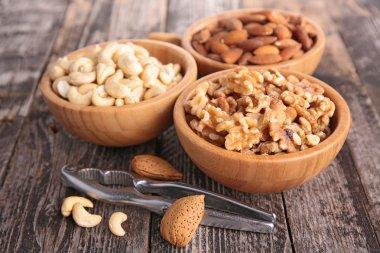 Almond, walnut and cashew