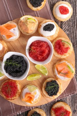 Caviar and canapes