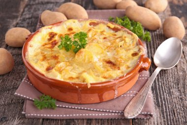 Tasty fresh potato gratin