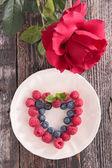 Fotografia frutti di bosco freschi