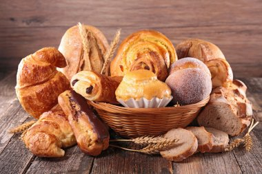 Croissant and various bread