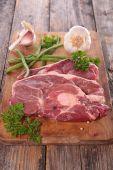 Fotografie syrové maso steak