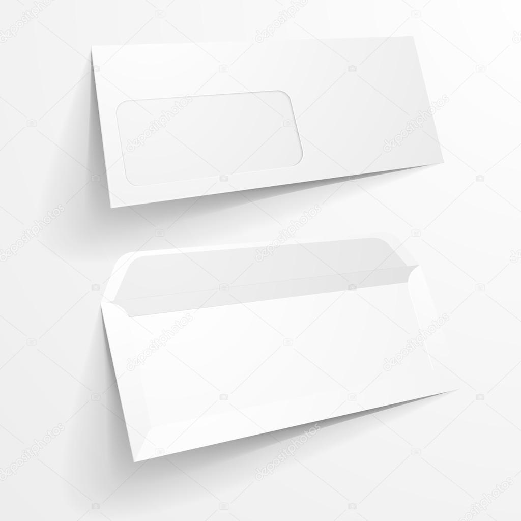 Mock Up Briefumschlag Vorlage Stockvektor Unkreatives 89020882