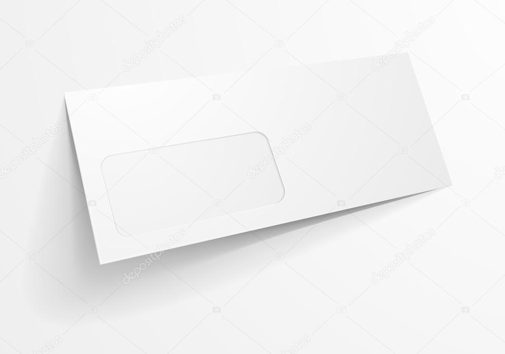 envelope window template stock vector unkreatives 89041598