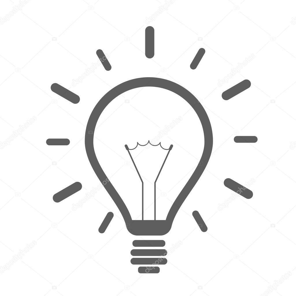 einfache Glühbirne-Symbol — Stockvektor © unkreatives #97081498