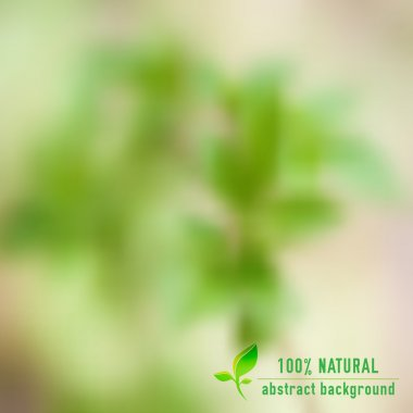 Vector green eco nature background with blurred effect