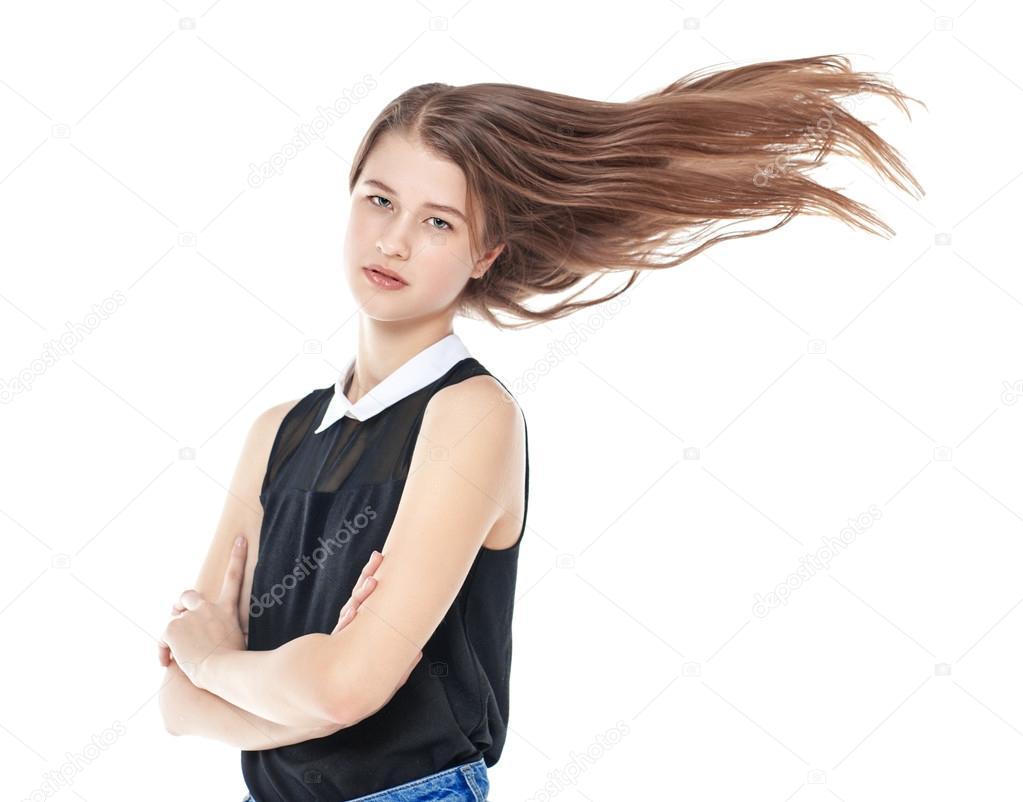 Волосы развевающиеся
