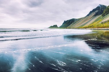 Beautiful coast of the Atlantic ocean in Iceland