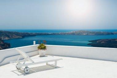 Sunbed on the terrace