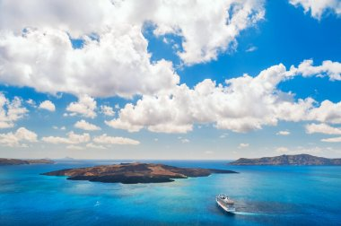 Cruise liner near the Greek Islands