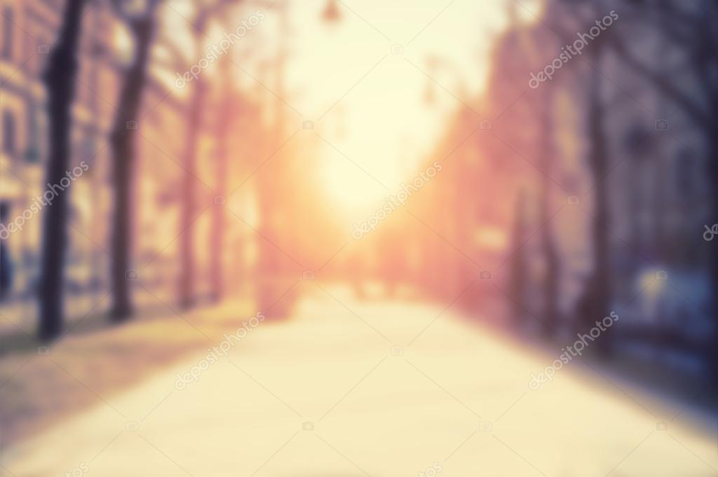 Blurred city background, vintage effect