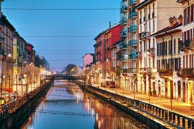 Naviglio Grande canal in Milan