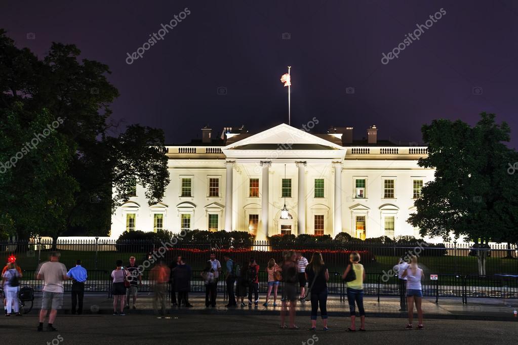 Costruzione della casa bianca foto editoriale stock for Spargere i piani della casa degli ospiti