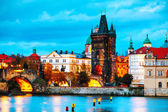 Photo The Old Town with Charles bridge tower in Prague