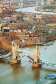 Photo Aerial overview of London city