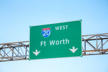 Road sign  Fort Worth