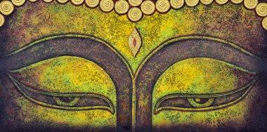 buddha face acrylic painting