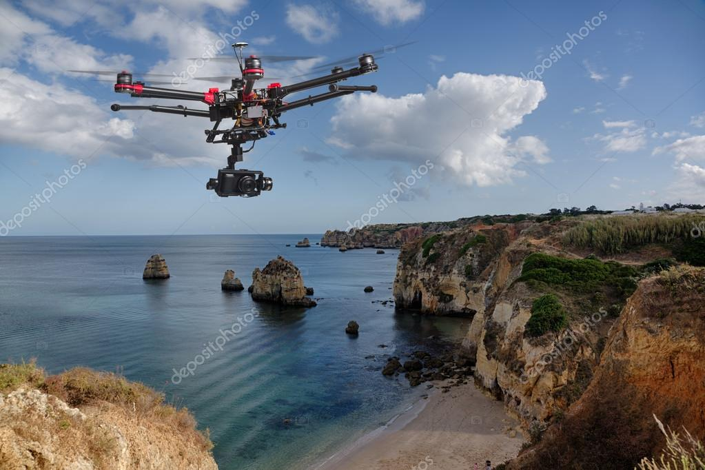 Aerial cliffs patrol