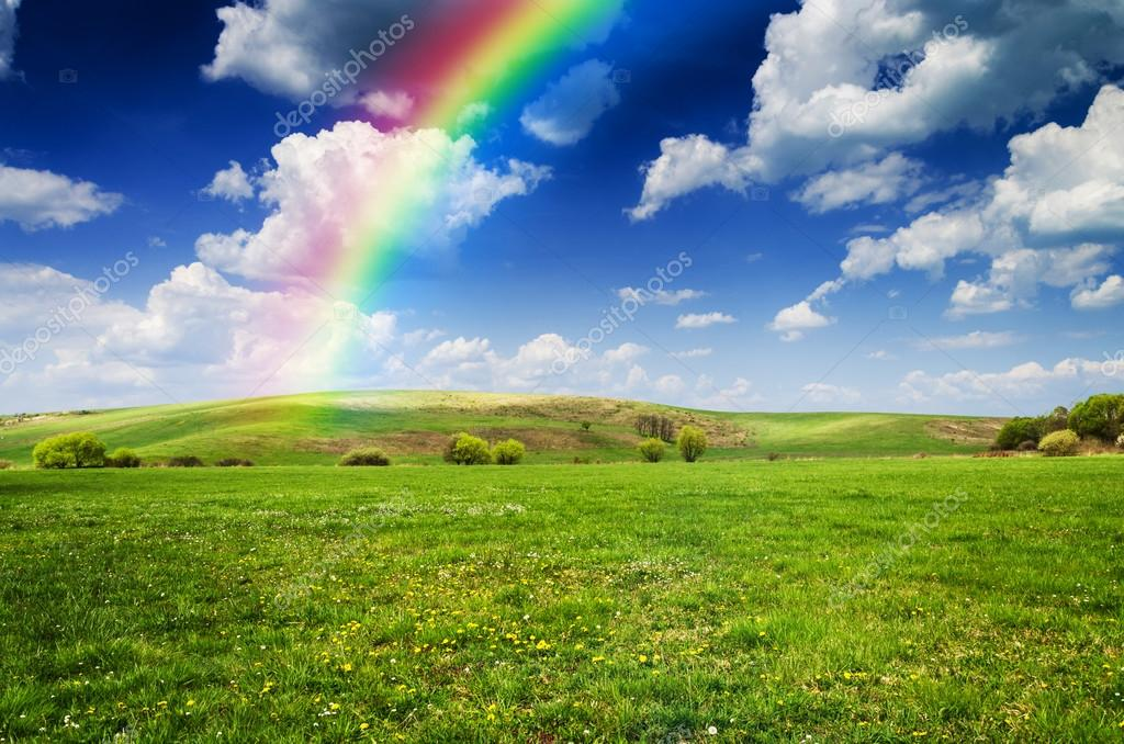 Rainbow In The Blue Sky Stock Photos - Image: 21447453 |Real Rainbows In The Sky On A Sunny Day