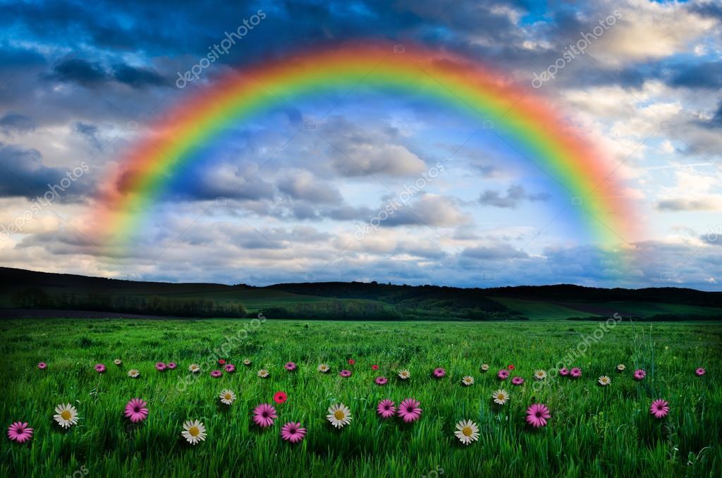 Beautiful rainbow background