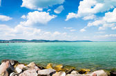 Pohled z jezera Balaton