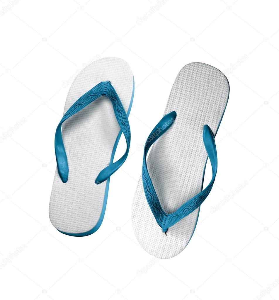 d7727456314e pair of flip-flops isolated on a white — Stock Photo © shutswis ...