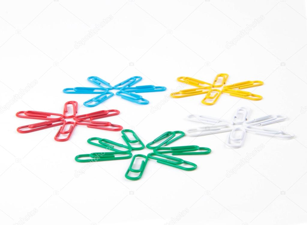 Office Colored Staples Isolated Stock Photo Shutswis 118061678
