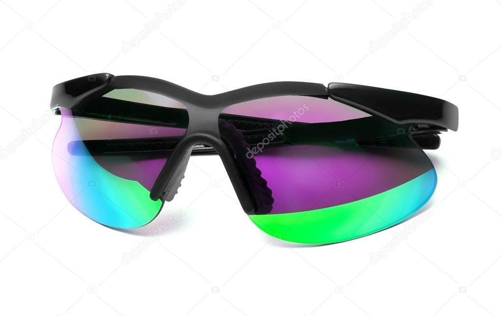 cac7e6ece1ffa4 Plastic bril kleur op wit wordt geïsoleerd — Foto van shutswis