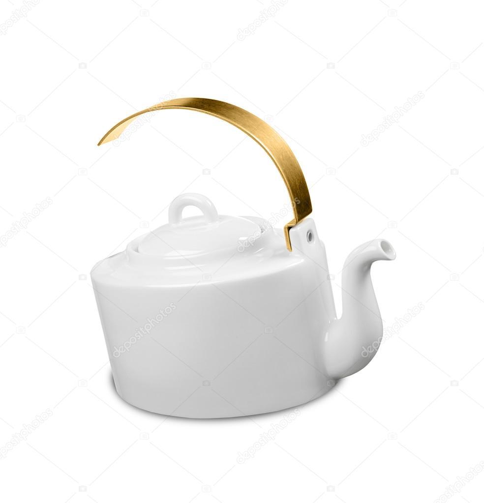 Moderne Teekanne moderne teekanne mit goldenen griff stockfoto shutswis 92526738