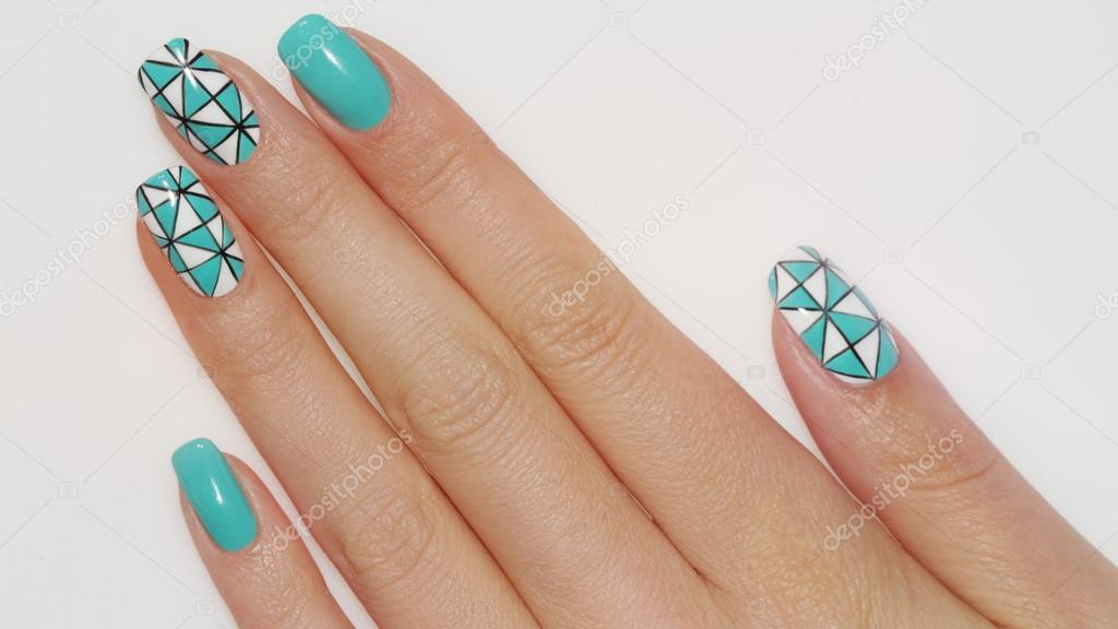 Nail Design Manicure Nail Paint Stockfoto Elena1110 112162890