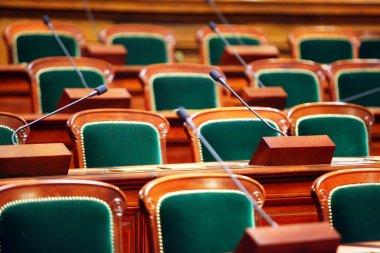 Empty vintage congress