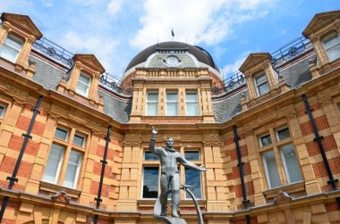 Yuri Gagarin statue waving in front of Royal Observatory greenwich london