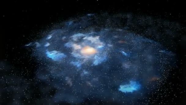 Rotující galaxie loopable