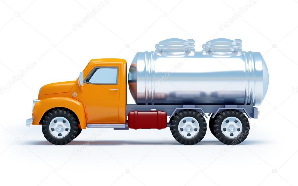 cartoon tanker truck side