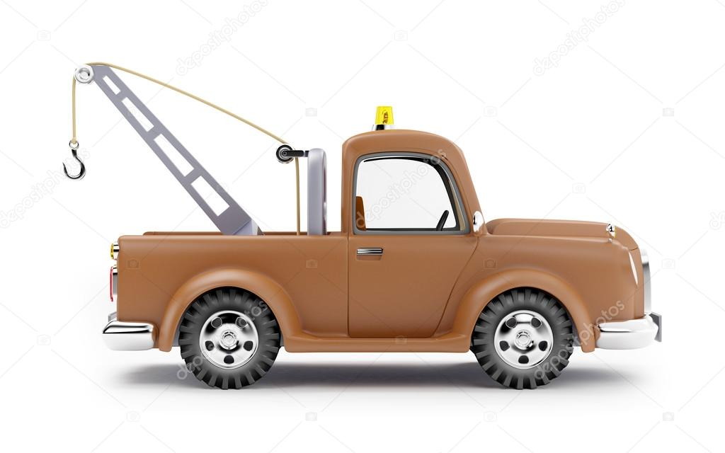 Tow Truck Side View Stock Photo