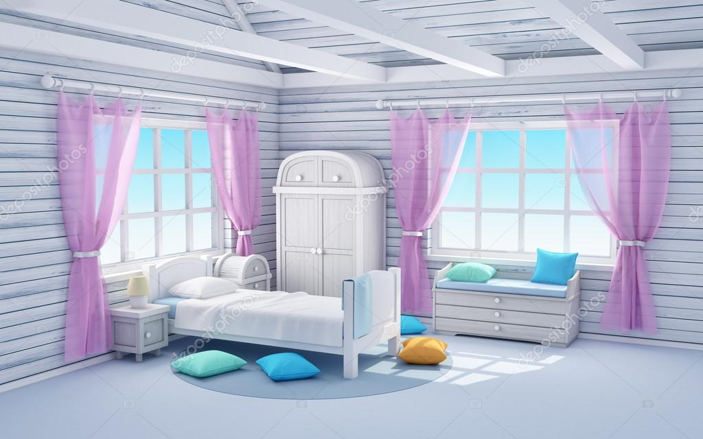 weiße Traum-Schlafzimmer — Stockfoto © ilterriorm #90608944