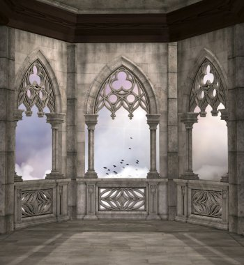 Elven palace terrace