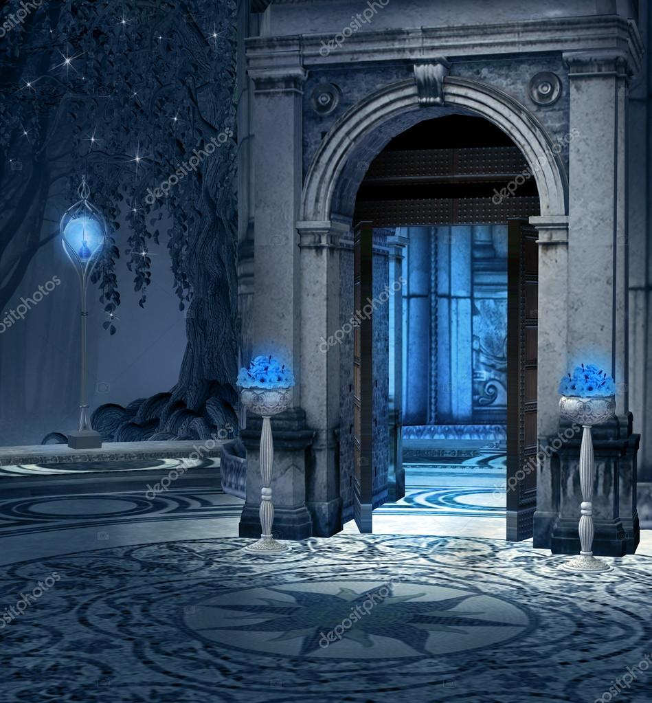 Elves palace background