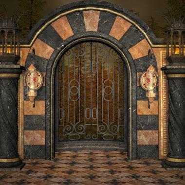 Ancient palace gate