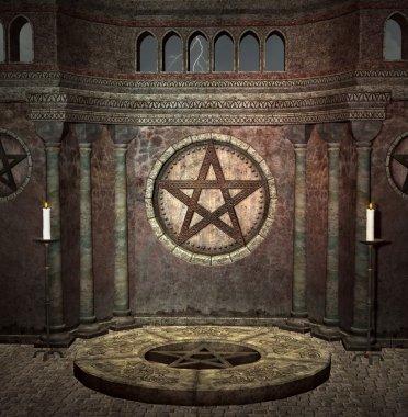 Medieval dark chamber