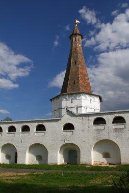 Tower in Joseph-Volokolamsk Monastery. Russia, Moscow region